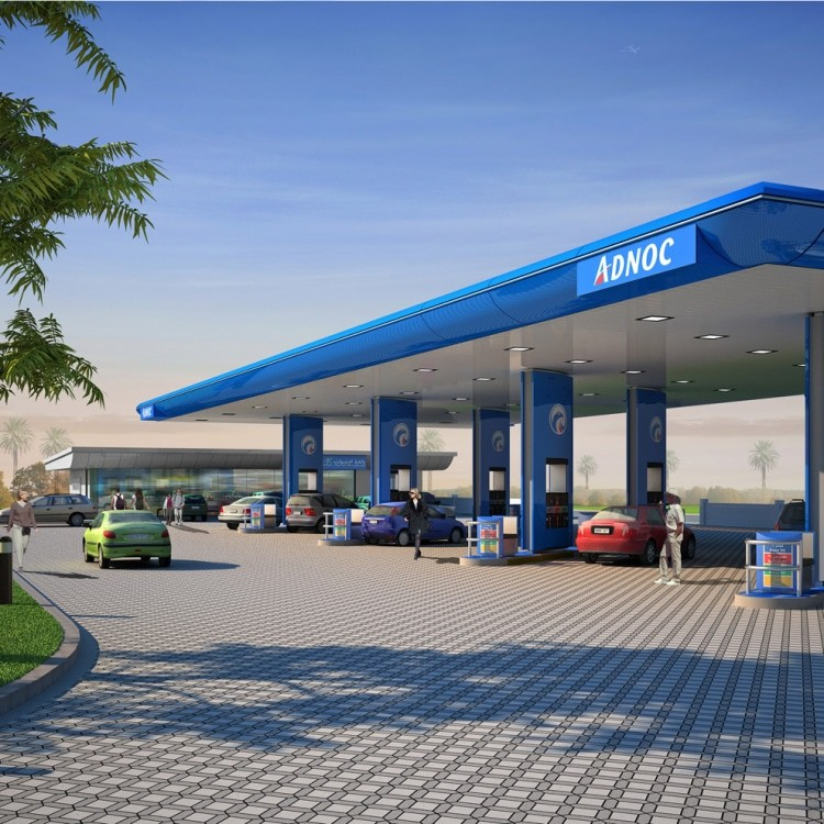 abu dhabi architect adnoc filling station e