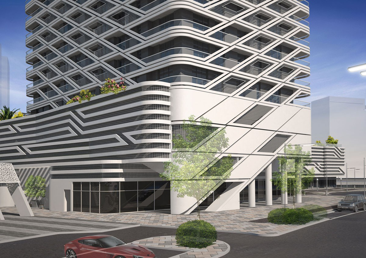 Ga architects abu dhabi mismak towers for Architectural design companies in abu dhabi