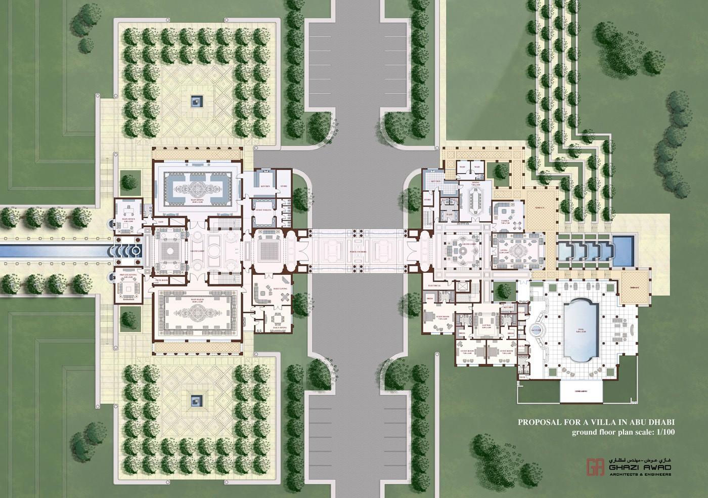 Ga Architects Abu Dhabi Private Palace In Abu Dhabi