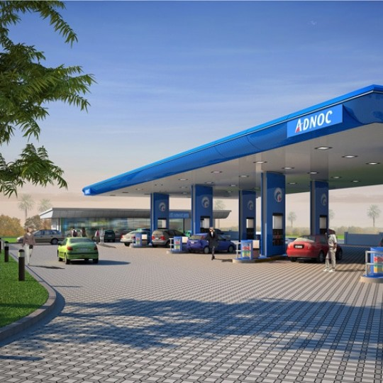 abu dhabi architect adnoc filling station k